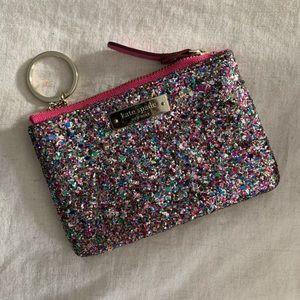 Kate Spade Glitter Zippered Coin Purse